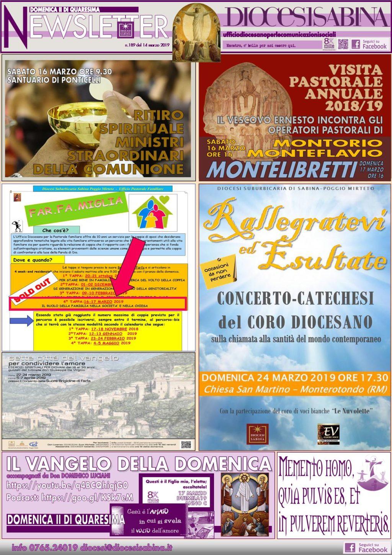 La Newsletter Diocesana